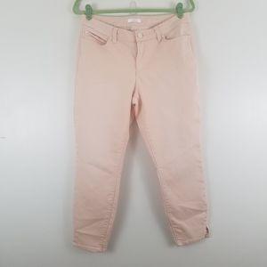 Lauren Conrad Peach Skinny Crop Jeans